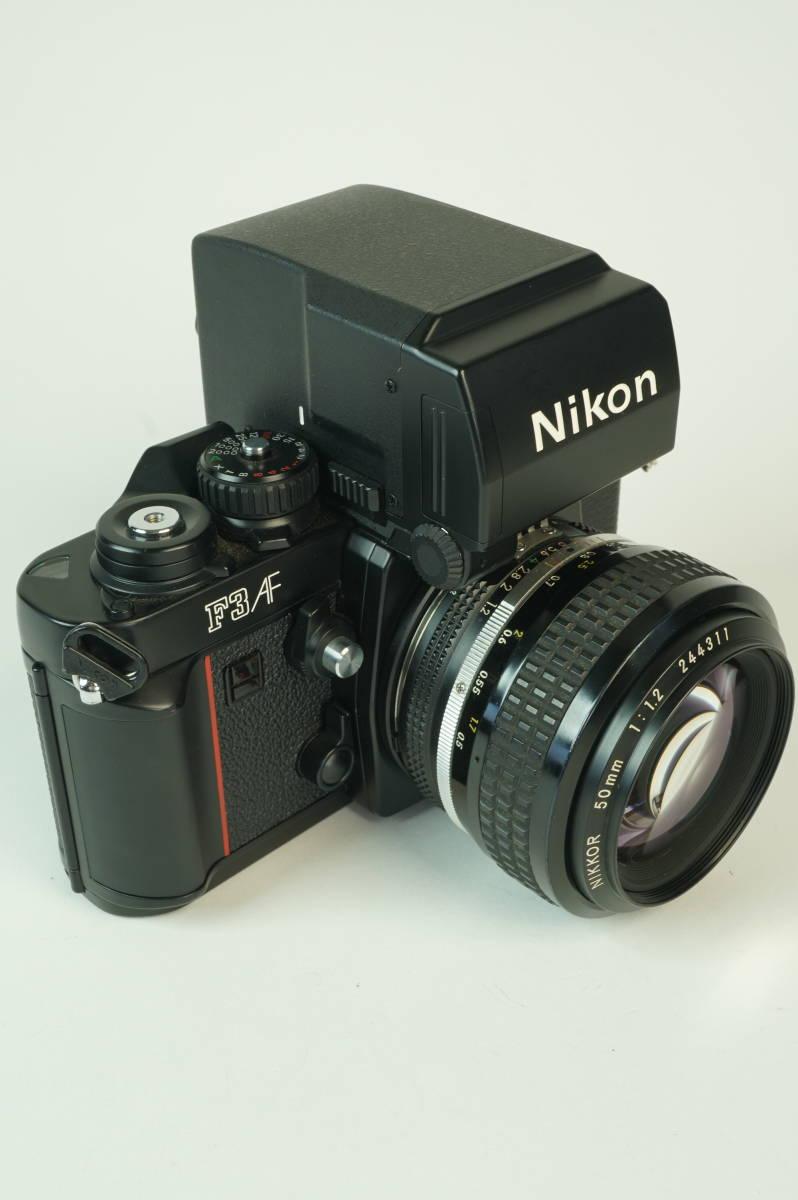 17◆ 名機 ニコン Nikon F3 AF 830万台 ボディ AF-FINDER DX-1 レンズ セット NIKKOR 50mm 1:1.2 ◆ 現状渡 未整備品 ◆ 特価スタート!_画像2