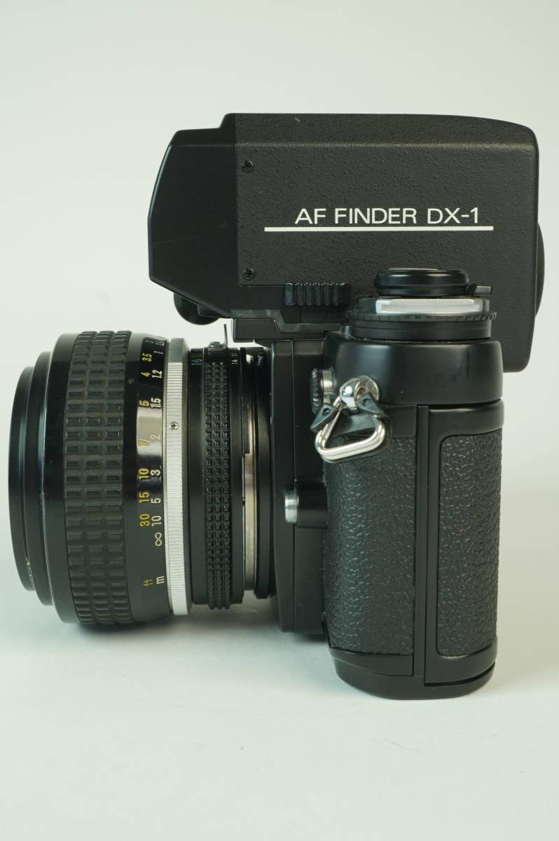 17◆ 名機 ニコン Nikon F3 AF 830万台 ボディ AF-FINDER DX-1 レンズ セット NIKKOR 50mm 1:1.2 ◆ 現状渡 未整備品 ◆ 特価スタート!_画像3