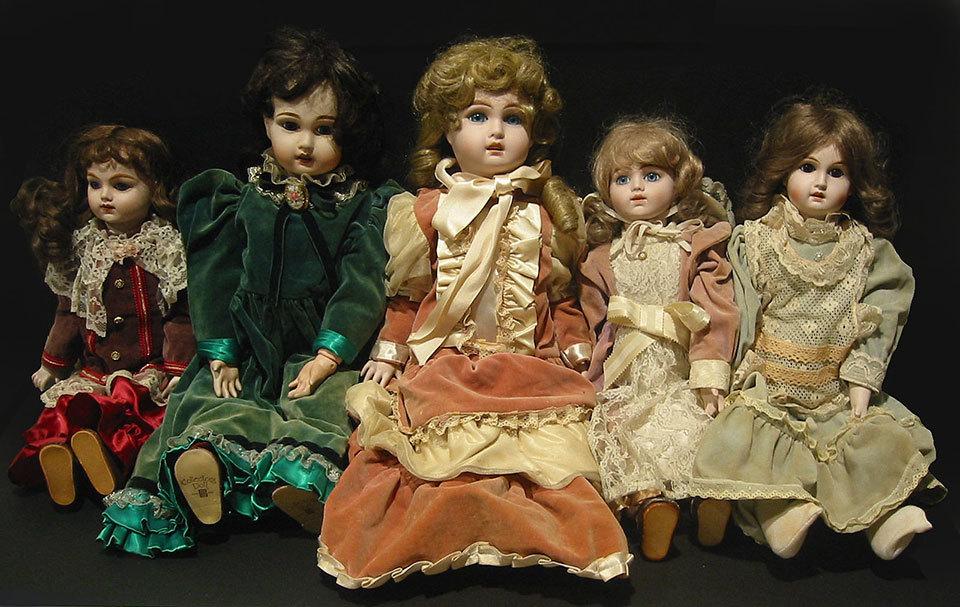 ◆紫野◆ とても大きなお人形 ビスクドール 5体セット ~61cm 抱き人形 アンティーク