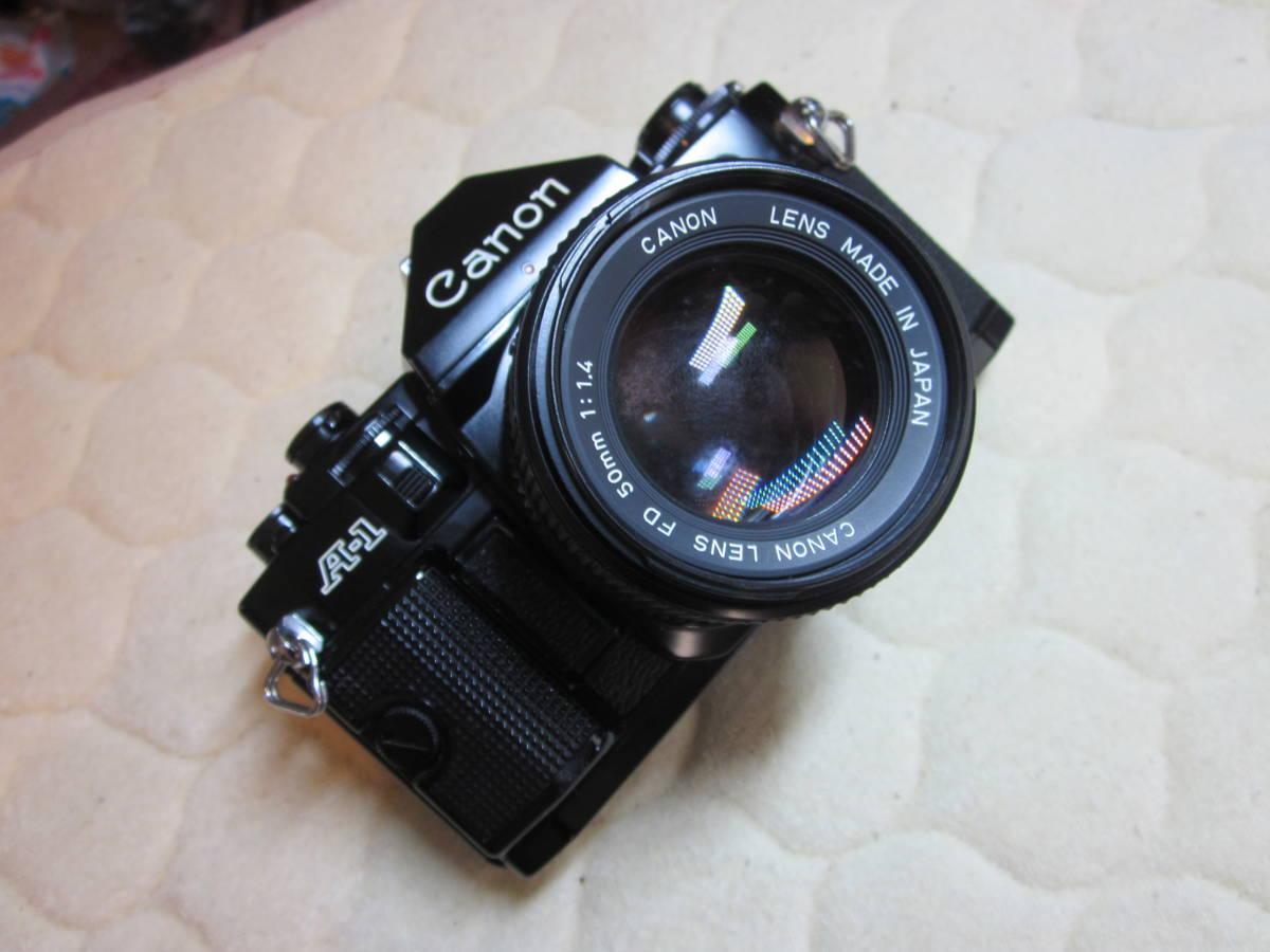 ジャンク品、Canon キヤノン A-1 、NFD 50mm F1.4