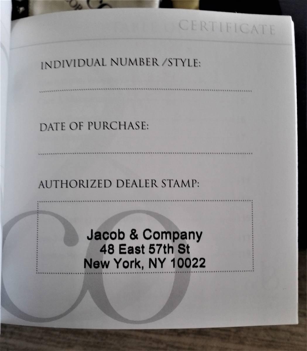 新品本物 ジェイコブ ◆ファイブタイムゾーン◆ 40MM クォーツ ◆ダイヤ&替えベルト付き◆ ◆定価112万円◆ Jacob & Co.JCM-91DA _画像7