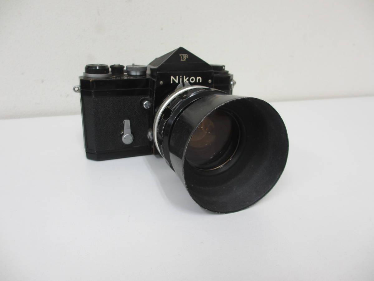 NIKON ニコン F ブラック 7265563 カメラ 1:1.2 f=55mmレンズ付 中古_画像2