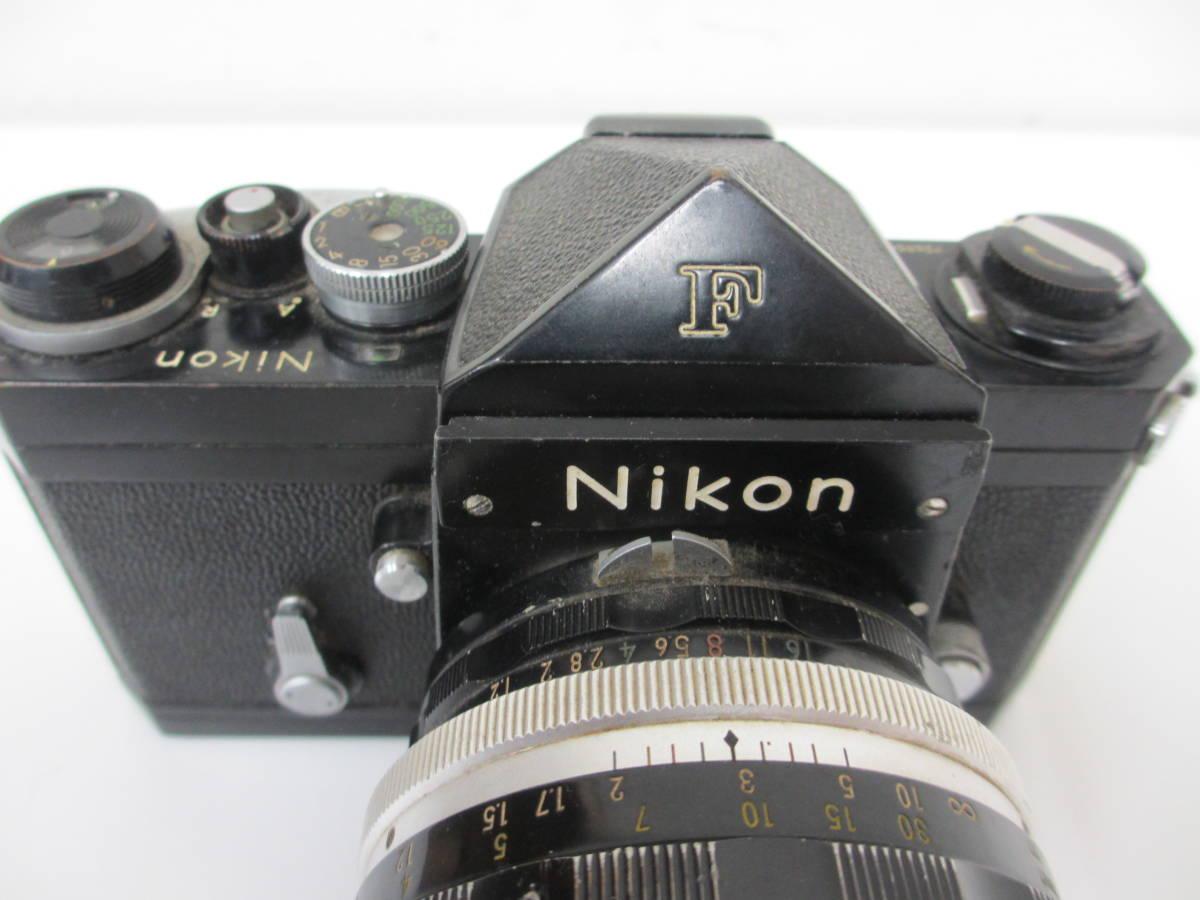 NIKON ニコン F ブラック 7265563 カメラ 1:1.2 f=55mmレンズ付 中古_画像4