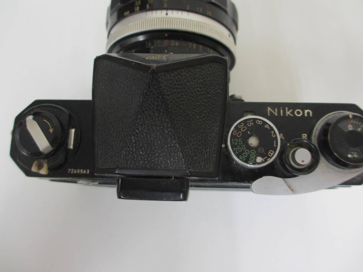 NIKON ニコン F ブラック 7265563 カメラ 1:1.2 f=55mmレンズ付 中古_画像5