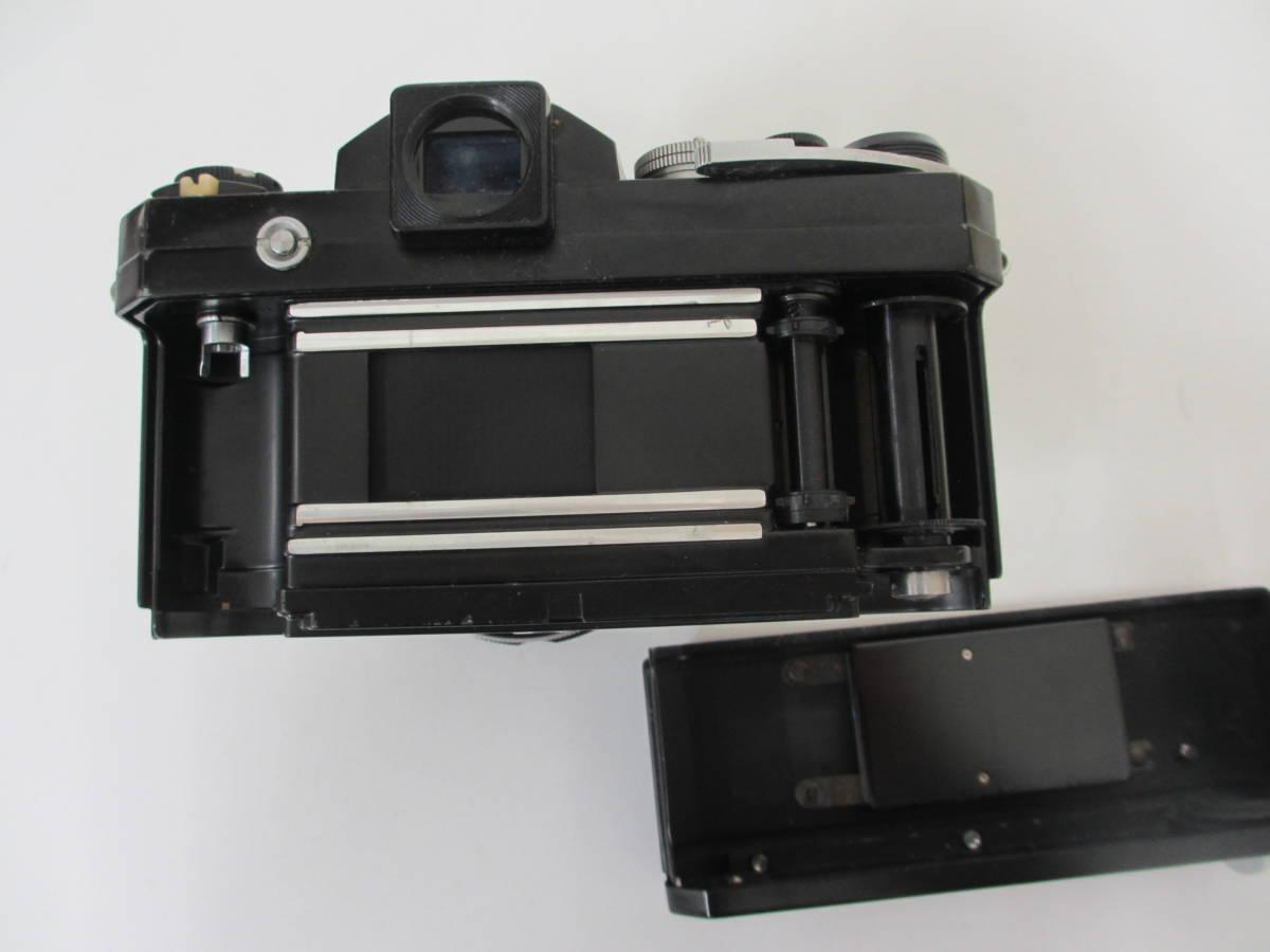 NIKON ニコン F ブラック 7265563 カメラ 1:1.2 f=55mmレンズ付 中古_画像7