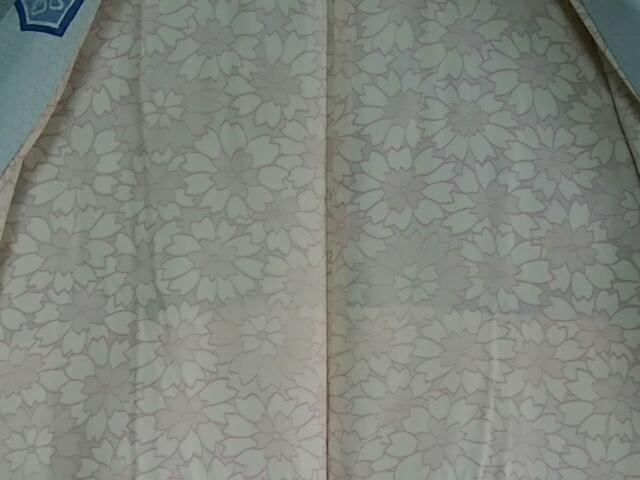 [お洒落羽織]正絹/袷/羽織丈80cm/羽織紐/瓶覗き色/亀甲の地模様に亀甲の柄_画像8