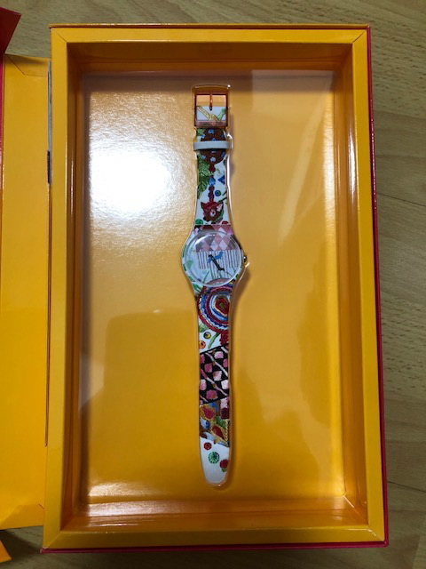 スウォッチ・SWATCH・PIOLIN'S TIME・SUOZ240S ・アーティストスペシャル・世界中限定販売2,626セット・貴重作品・新品!!!!!!_画像2