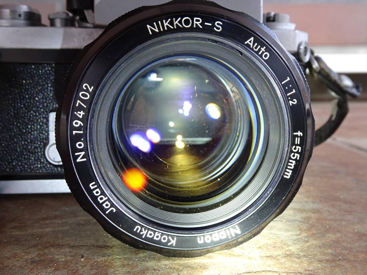 #212★Nikon F フォトミック(初期型) ボディ+レンズセット■NIKKOR-S Auto 1:1.2 f=55mm■ニコン■_画像3