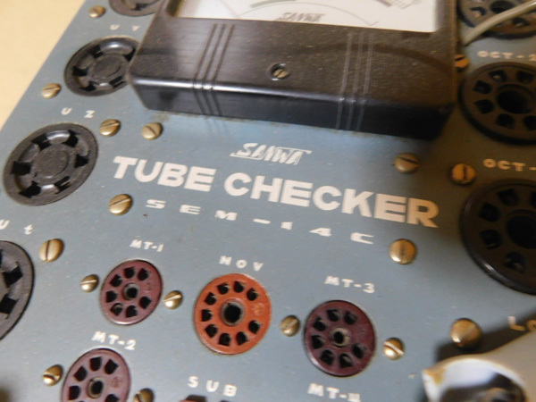 107 SANWA TUBE CHECKER SEM-14C 真空管試験機 ジャンク_画像8