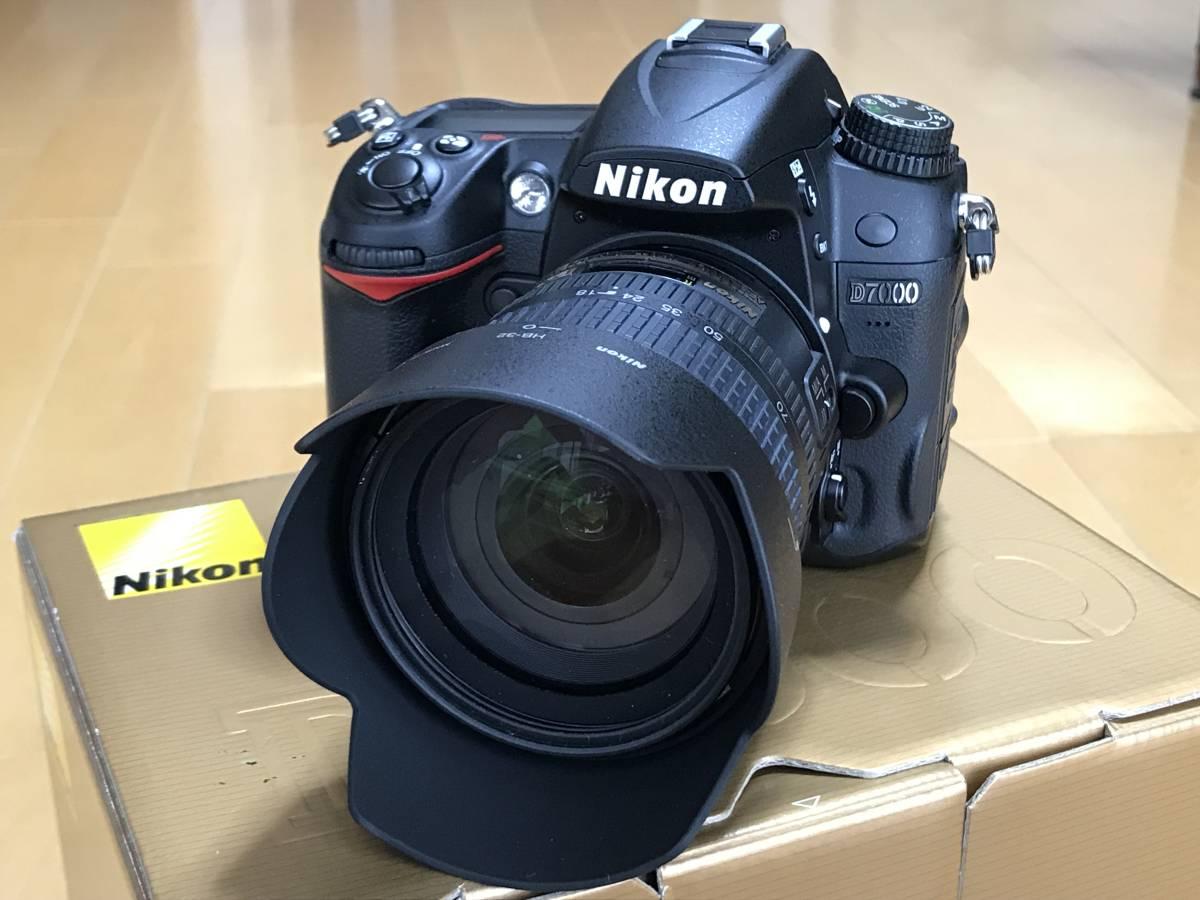 ニコン Nikon D7000・付属品完備 SDカード付・シャッター数831・DX18-70ズーム&フィルター付【美品】