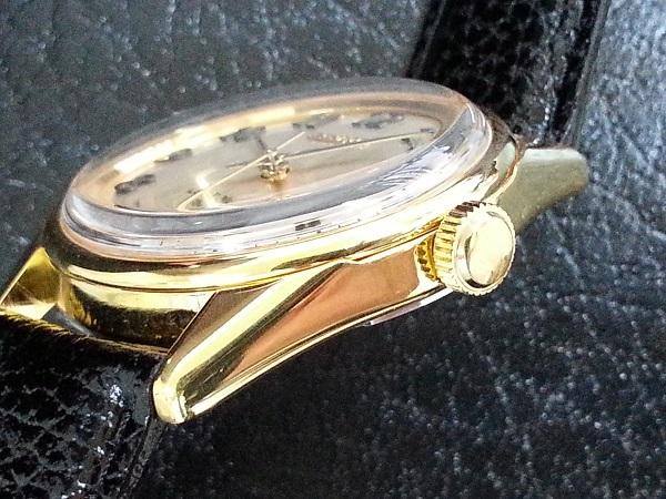 大野時計店 セイコー ロードマーベル 5740-8000 手巻 1973年5月製造 36000ビート 金色 アラビア数字 希少_画像2