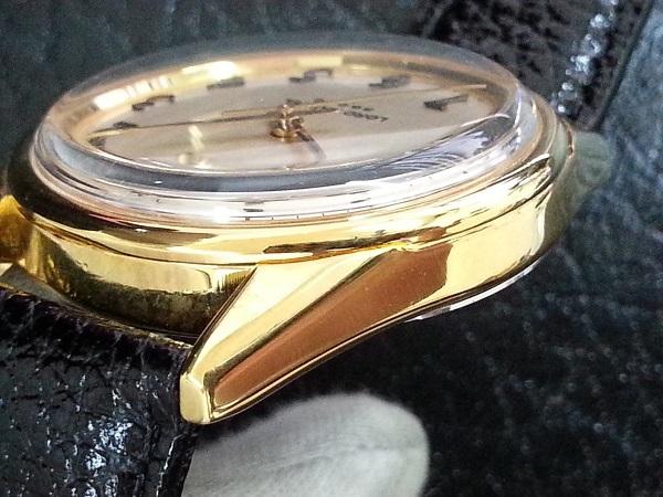 大野時計店 セイコー ロードマーベル 5740-8000 手巻 1973年5月製造 36000ビート 金色 アラビア数字 希少_画像3