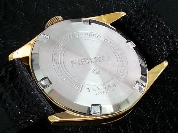 大野時計店 セイコー ロードマーベル 5740-8000 手巻 1973年5月製造 36000ビート 金色 アラビア数字 希少_画像5