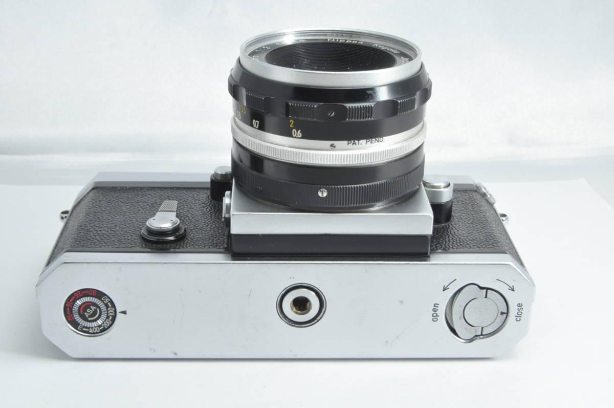 #2915 NIKON F アイレベル 640万代 シルバー NIKKOR-S 5cm F2 レンズ付き ニコン フィルムカメラ_画像4