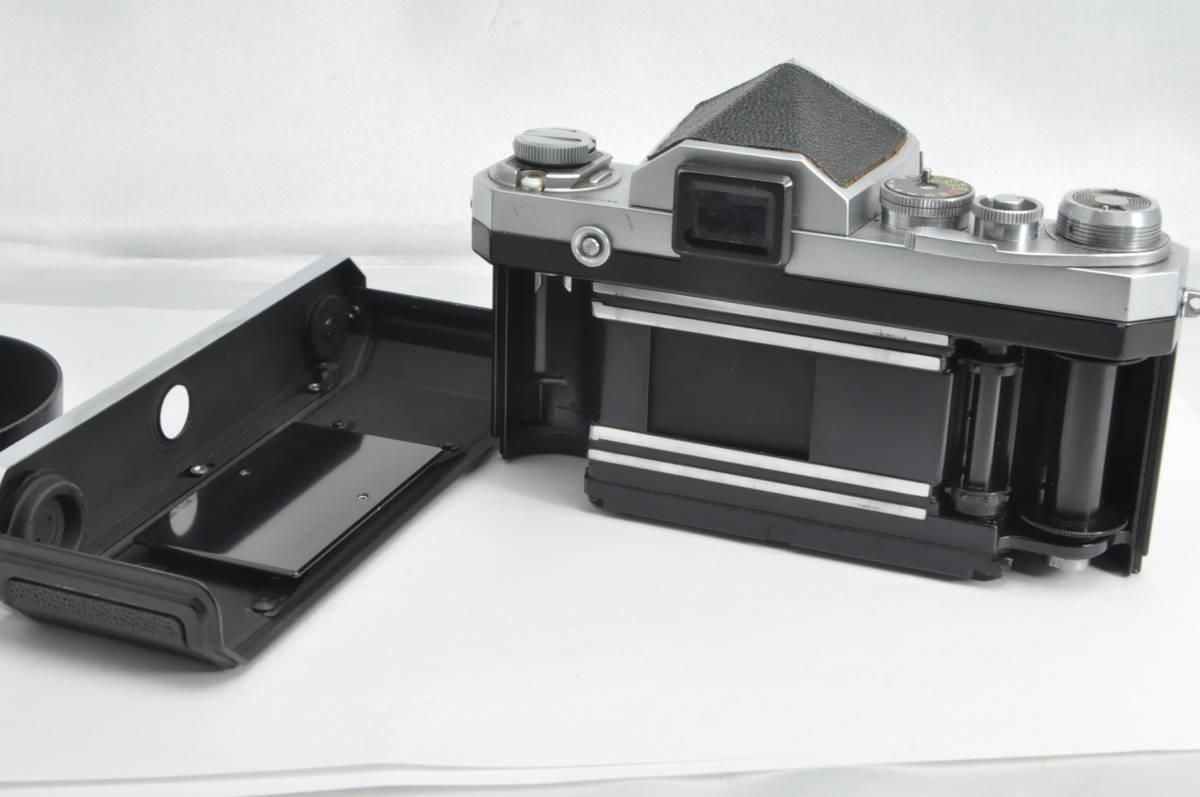 #2915 NIKON F アイレベル 640万代 シルバー NIKKOR-S 5cm F2 レンズ付き ニコン フィルムカメラ_画像5