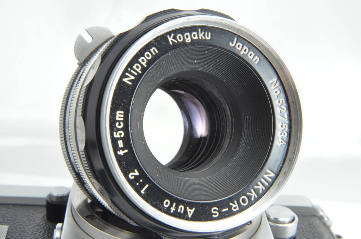 #2915 NIKON F アイレベル 640万代 シルバー NIKKOR-S 5cm F2 レンズ付き ニコン フィルムカメラ_画像8