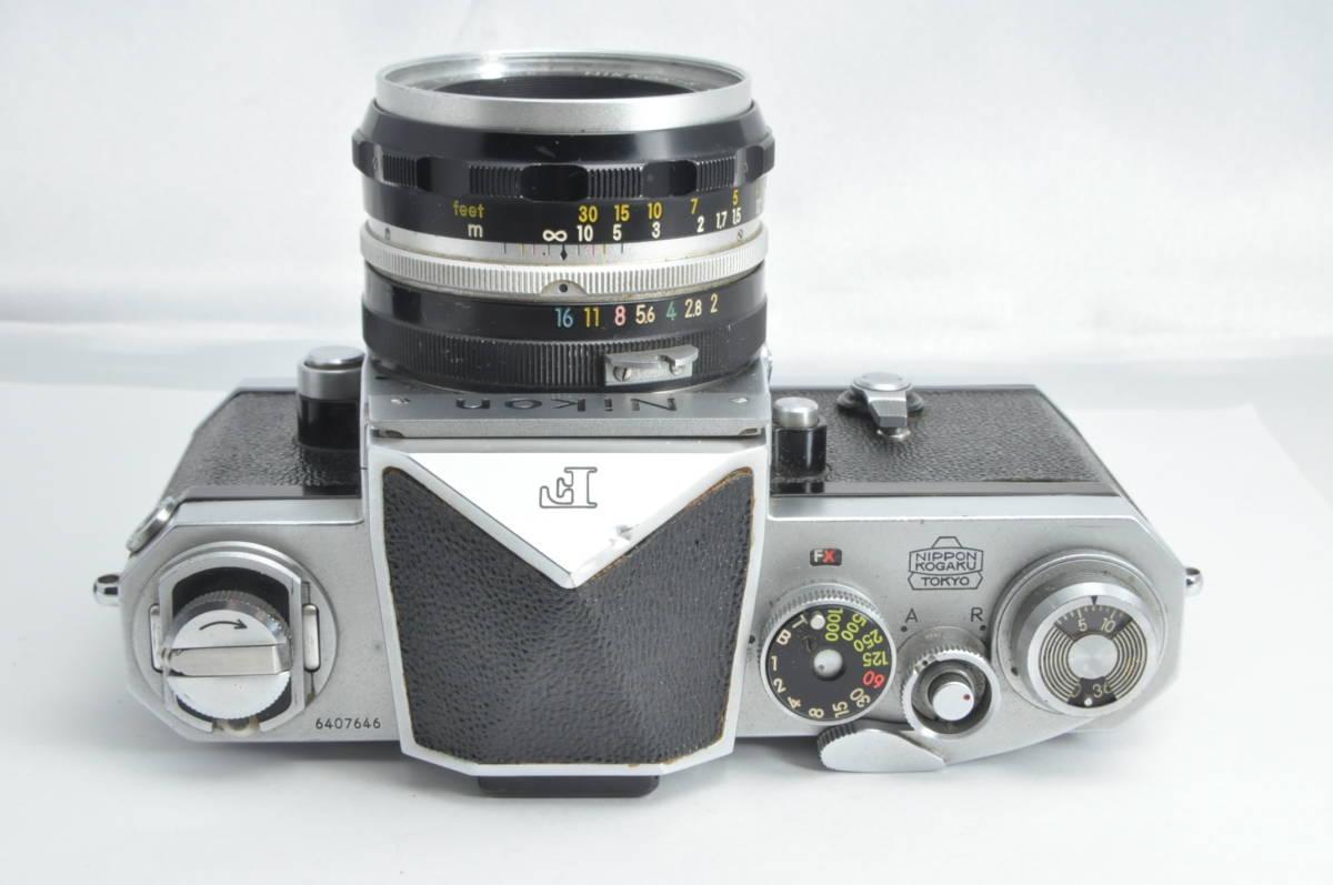 #2915 NIKON F アイレベル 640万代 シルバー NIKKOR-S 5cm F2 レンズ付き ニコン フィルムカメラ_画像2
