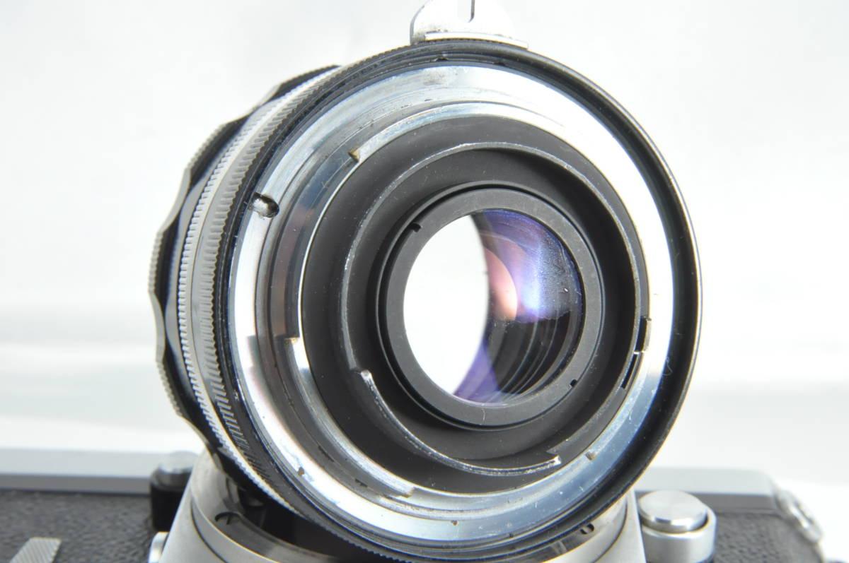 #2915 NIKON F アイレベル 640万代 シルバー NIKKOR-S 5cm F2 レンズ付き ニコン フィルムカメラ_画像9
