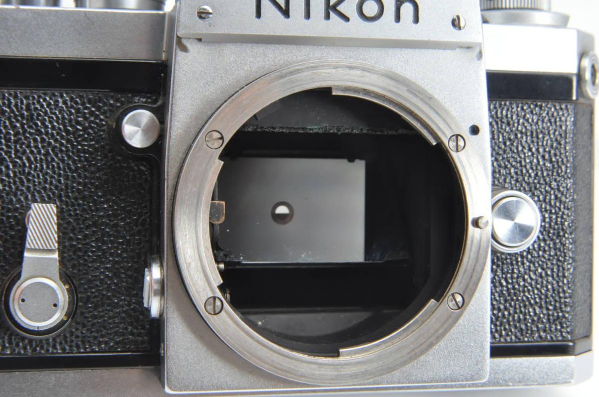 #2915 NIKON F アイレベル 640万代 シルバー NIKKOR-S 5cm F2 レンズ付き ニコン フィルムカメラ_画像7