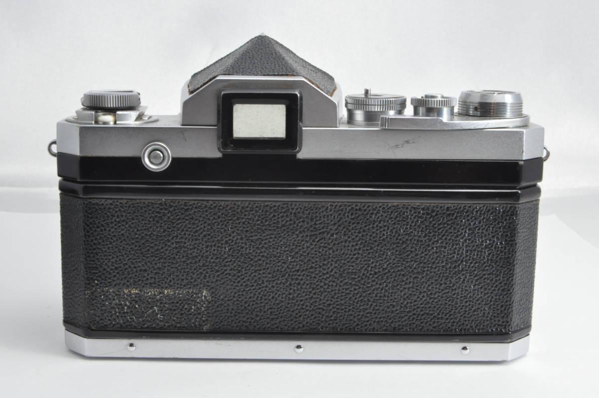 #2915 NIKON F アイレベル 640万代 シルバー NIKKOR-S 5cm F2 レンズ付き ニコン フィルムカメラ_画像3