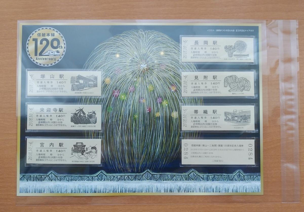 信越本線塚山~三条間開業120周年記念入場券7枚セット