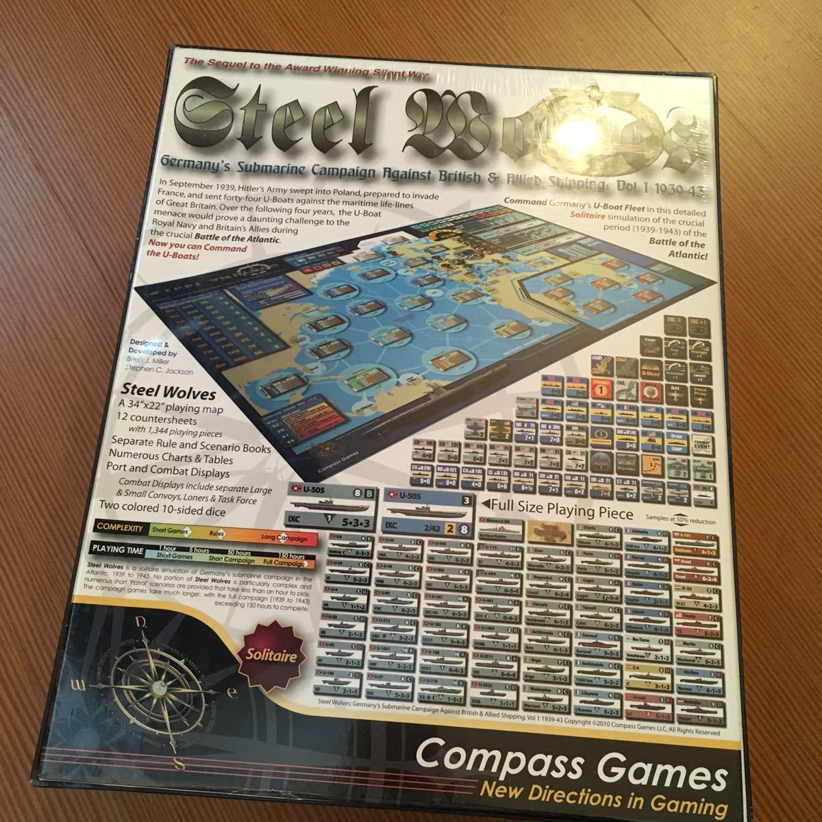 Steel Wolves Compass Games ウォーゲーム_画像2