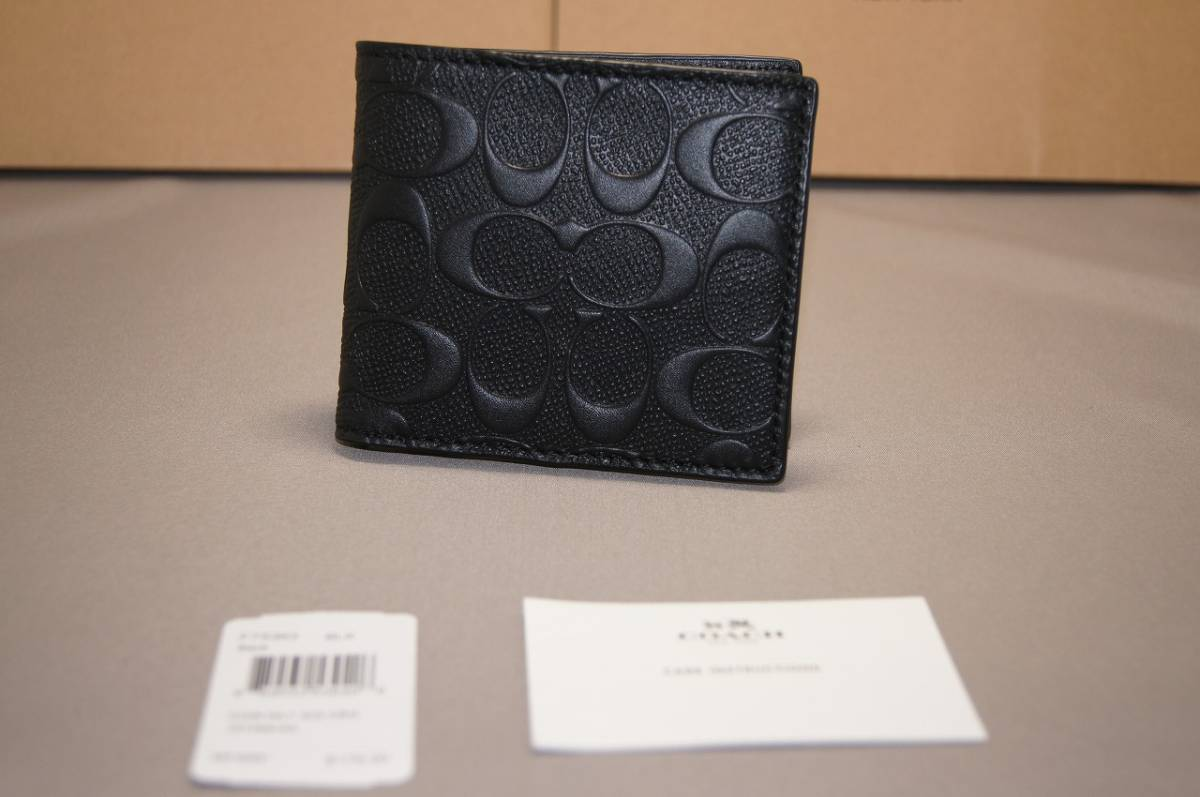 9264214bce779f 代購代標第一品牌- 樂淘letao - コーチCOACH 財布二つ折り財布F75363 ブラック人気商品!! 2
