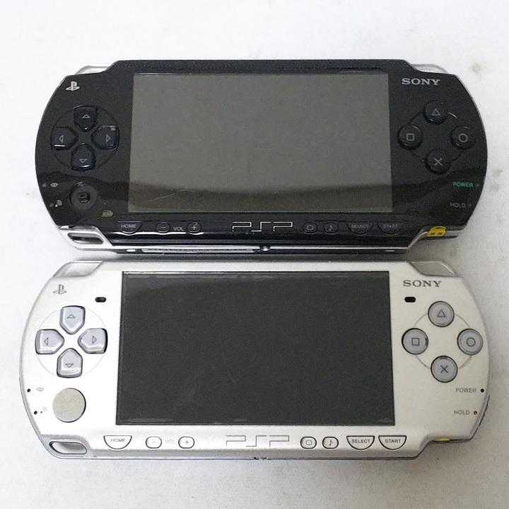 中古◆SONY(ソニー) PSP 2台セット◆PSP 1000/2000◆本体のみ◆携帯ゲーム機◆ジャンク◆おもちゃ、ゲーム◆ZR858