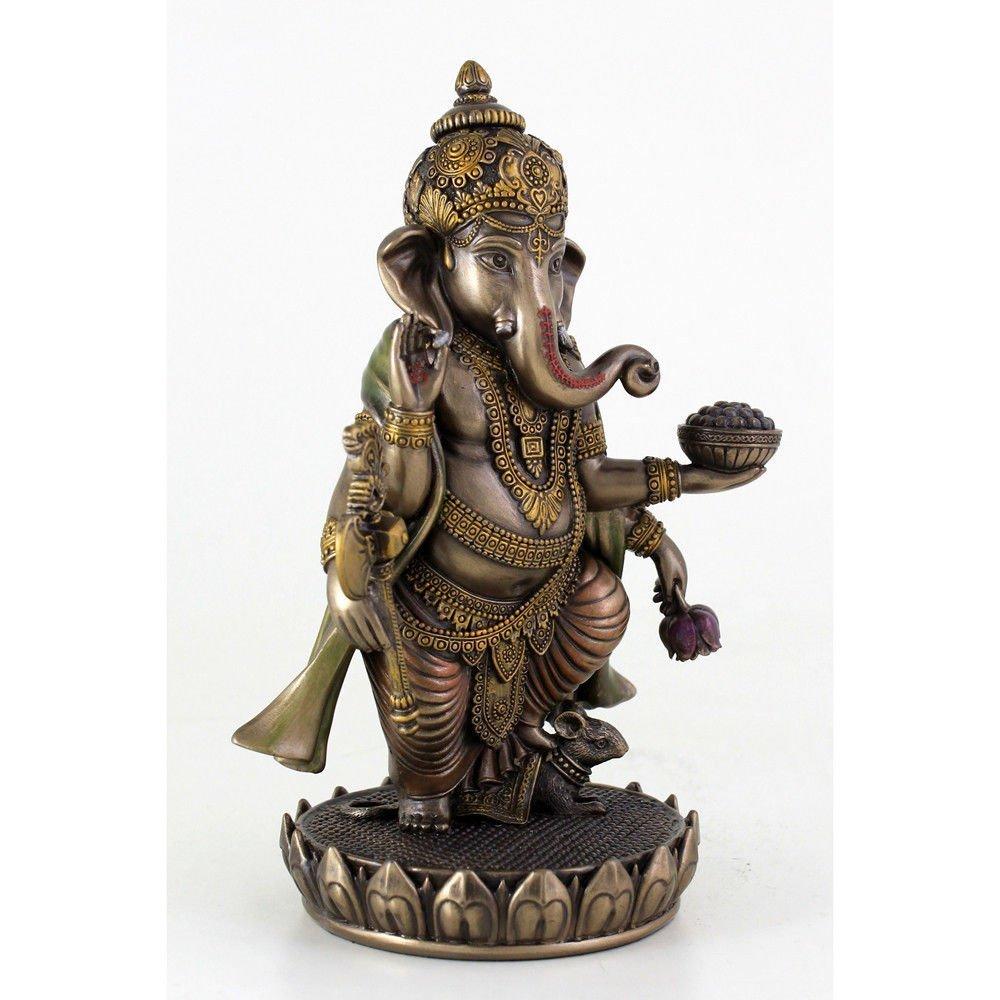 (夢をかなえるゾウ)ガネーシャ ヒンドゥー神象 障害を取り除き,繁栄を齎す、幸運神 ブロンズ風 彫像 彫刻/ Ganesh (Ganesha)(輸入品_画像3