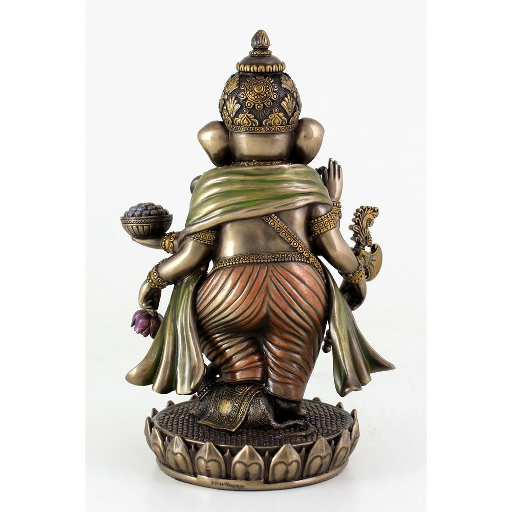 (夢をかなえるゾウ)ガネーシャ ヒンドゥー神象 障害を取り除き,繁栄を齎す、幸運神 ブロンズ風 彫像 彫刻/ Ganesh (Ganesha)(輸入品_画像2