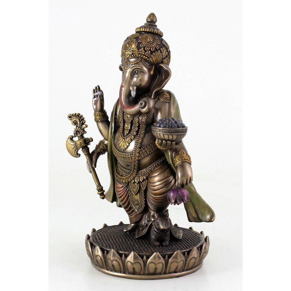 (夢をかなえるゾウ)ガネーシャ ヒンドゥー神象 障害を取り除き,繁栄を齎す、幸運神 ブロンズ風 彫像 彫刻/ Ganesh (Ganesha)(輸入品_画像4