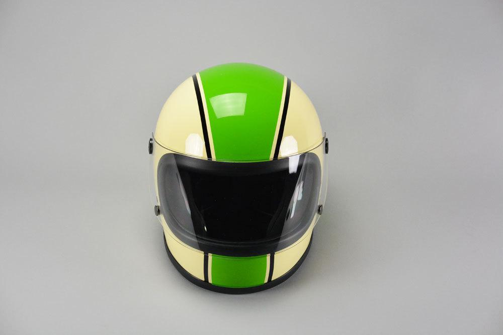 GT750 ヘルメット 族ヘル カワサキ グリーン ノスタルジック GT-750 ビンテージ フルフェイス_画像2