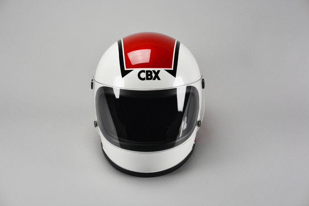 GT750 ヘルメット 族ヘル CBX アカ/シロ ノスタルジック GT-750 CBX400F 赤/白 ビンテージ フルフェイス_画像2