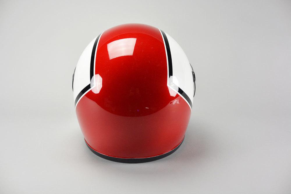 GT750 ヘルメット 族ヘル CBX アカ/シロ ノスタルジック GT-750 CBX400F 赤/白 ビンテージ フルフェイス_画像4