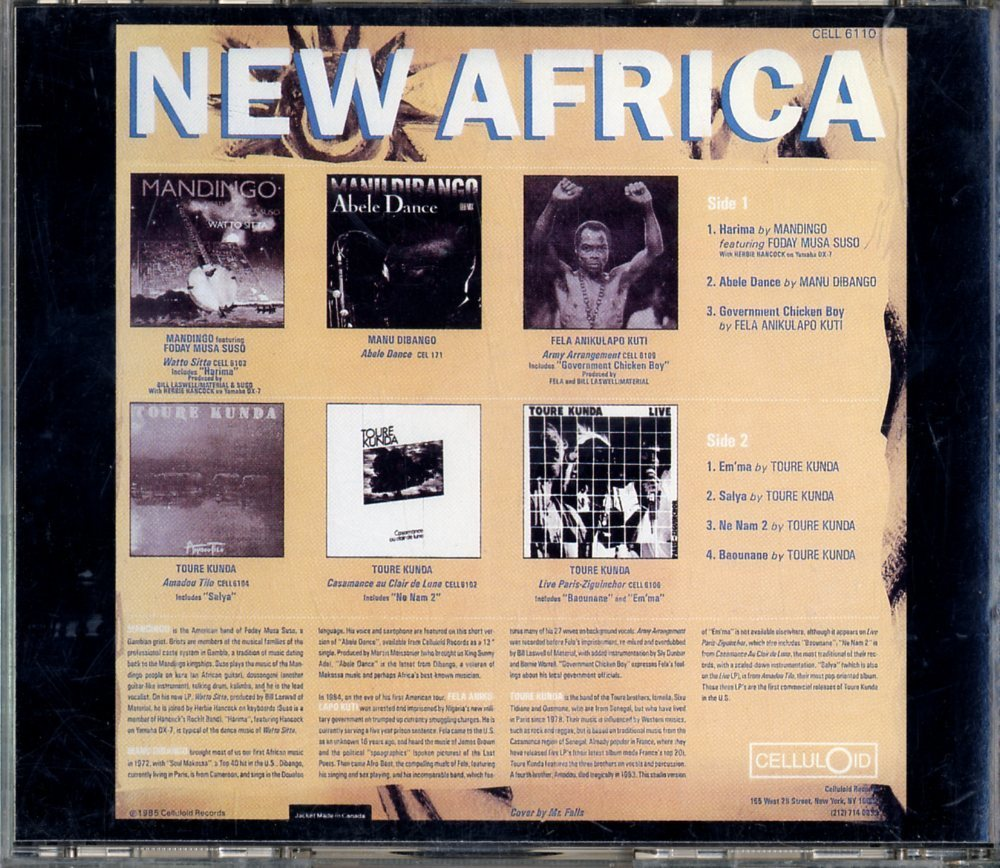 CD☆V.A. / Mandingo Featuring Foday Musa Suso With Herbie Hancock / New Africa / CELCD6110_画像2