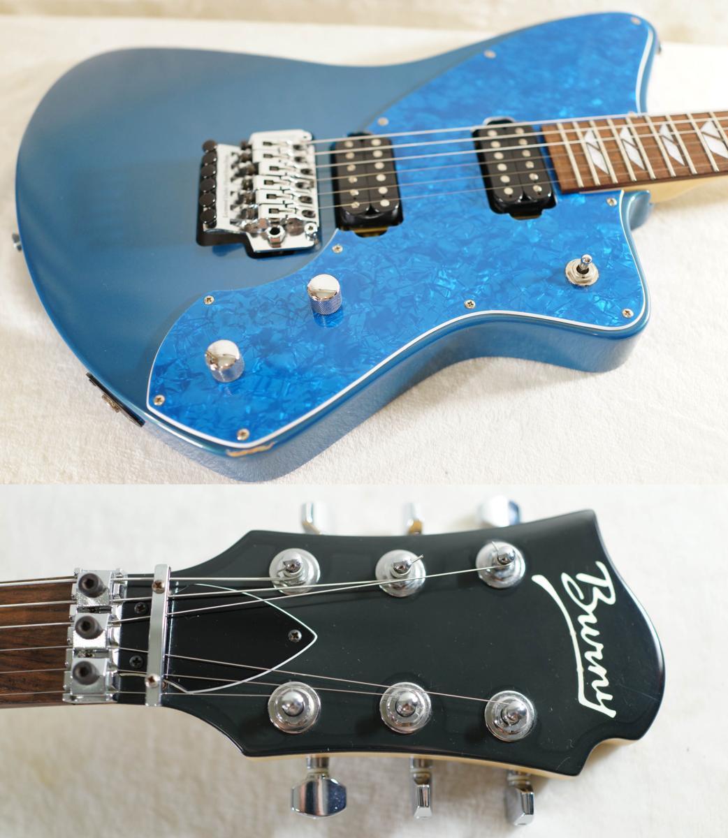 ★BURNY★H-65 BLUE シャチギター HIDE/HOTEI レアモデル★_画像1