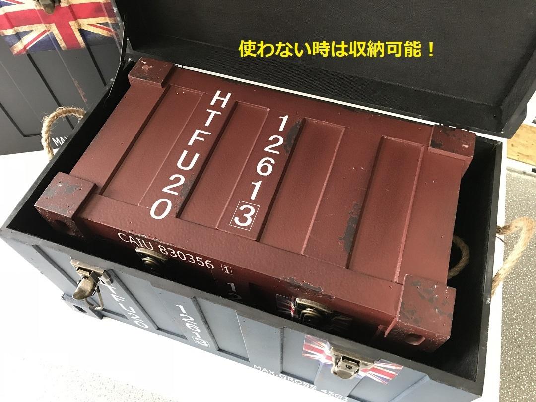 コンテナボックス クレートボックス アンティーク木箱 ウッドクレート ガレージライフ 旧車 ハコスカ ケンメリ S30Z Z33 Z34 AE86 L型 L28_他サイズのコンテナボックスがれば収納可