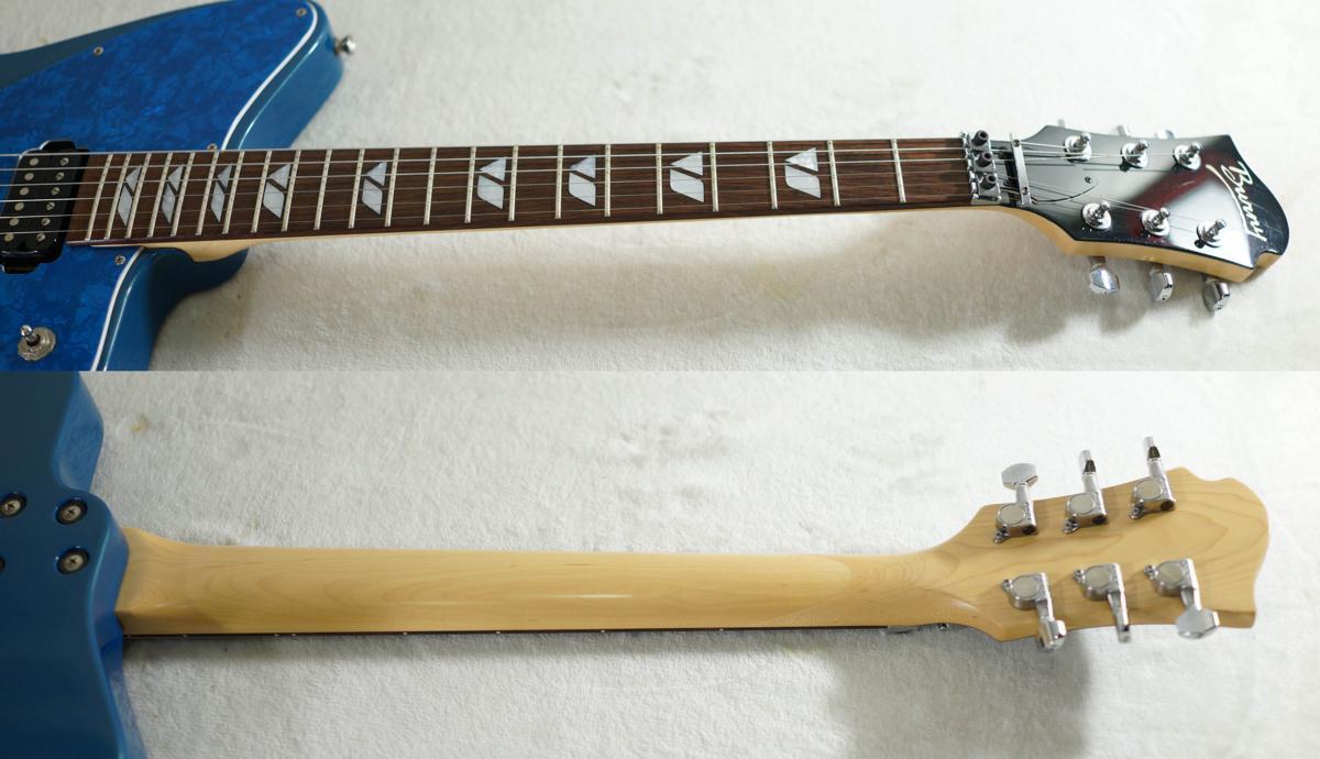 ★BURNY★H-65 BLUE シャチギター HIDE/HOTEI レアモデル★_画像3