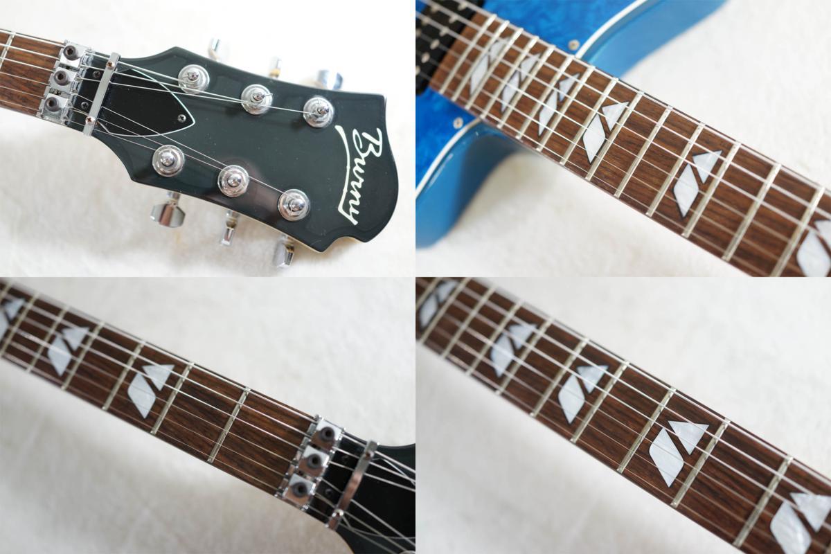 ★BURNY★H-65 BLUE シャチギター HIDE/HOTEI レアモデル★_画像7