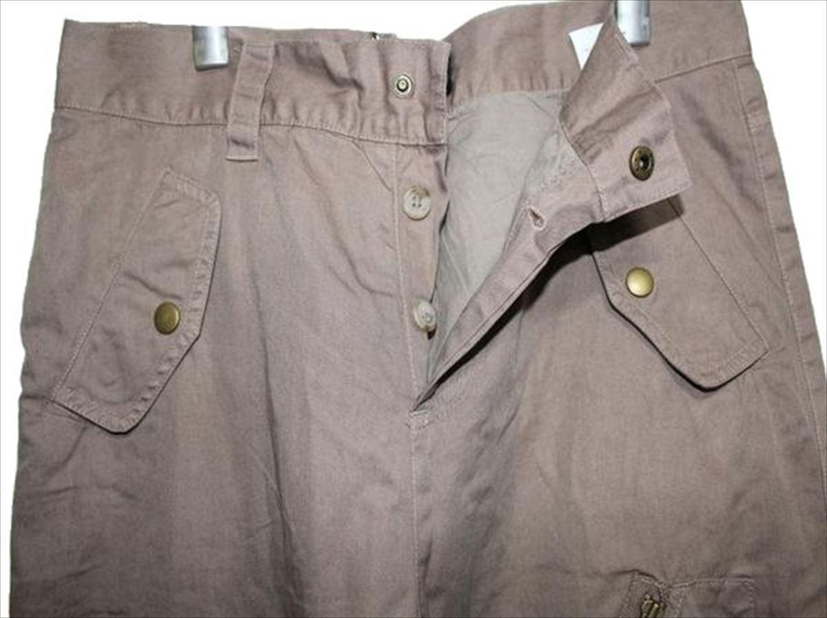 ライン LINE メンズ ミリタリーパンツ ブラウン 34インチ 新品_画像2