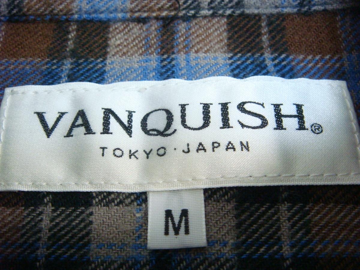 ヴァンキッシュ VANQUISH チェック柄長袖シャツ M メール便_画像3