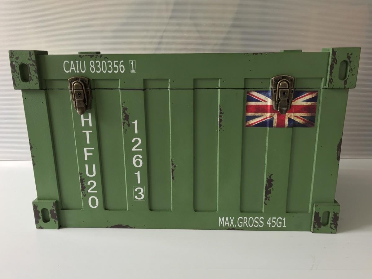 コンテナボックス クレートボックス アンティーク木箱 ウッドクレート ガレージライフ 旧車 ハコスカ ケンメリ S30Z Z33 Z34 AE86 L型 L28_ウッドコンテナ大(緑)