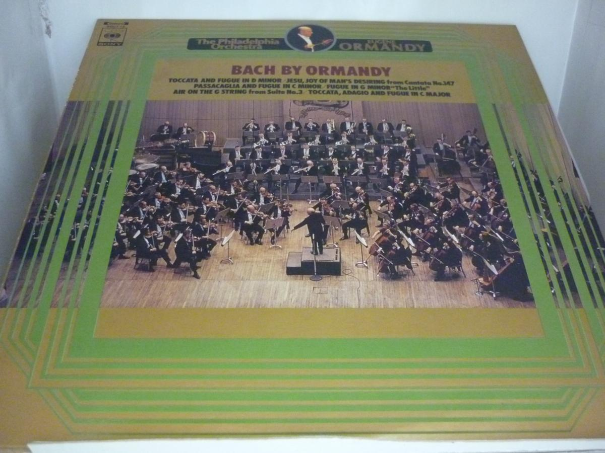 LPA8345 オーケストラによるバッハ名曲集 トッカータとフーガ 他/ オーマンディ/フィラデルフィア管弦楽団 / 国内盤LP 盤良好_画像1