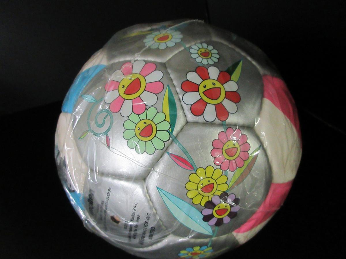 未使用 モルテン molten 村上 隆デザイン サッカーボール 2002年 限定モデル フラワーボール 5号 ルイヴィトン (44202_画像3