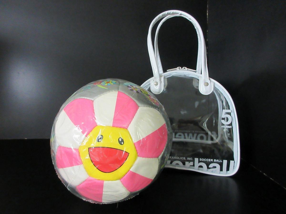 未使用 モルテン molten 村上 隆デザイン サッカーボール 2002年 限定モデル フラワーボール 5号 ルイヴィトン (44202_画像1