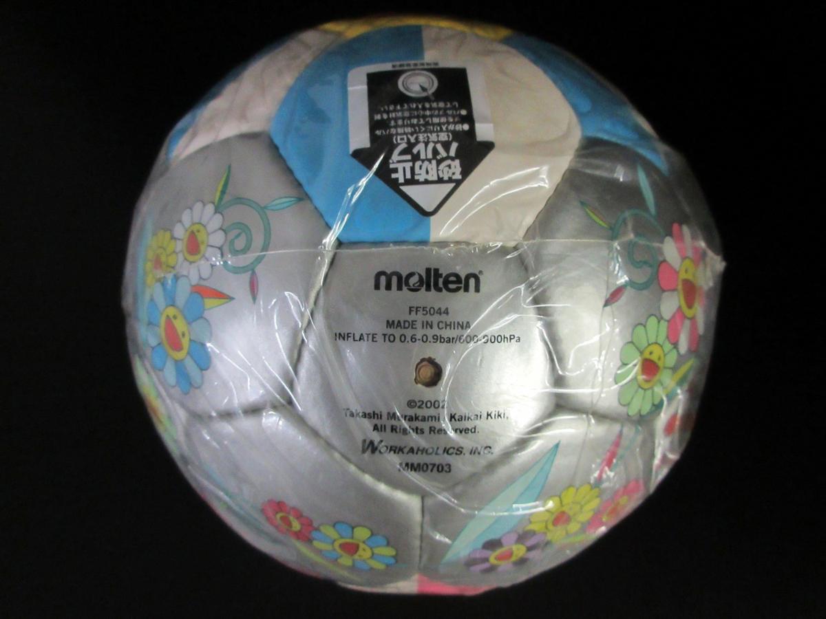 未使用 モルテン molten 村上 隆デザイン サッカーボール 2002年 限定モデル フラワーボール 5号 ルイヴィトン (44202_画像6