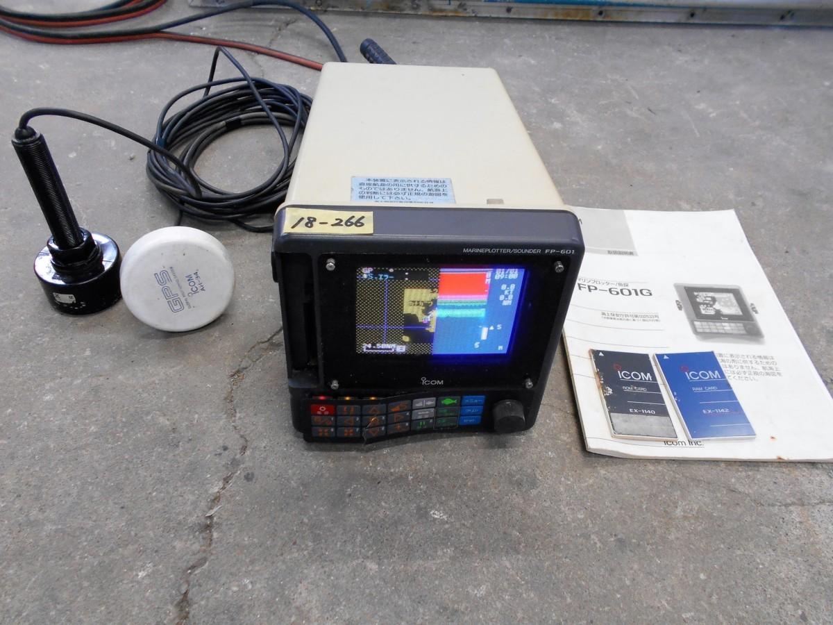 18-266 iCOM (アイコム㈱) GPSプロッター&魚群探知機 FP-601G 6インチ 液晶カラーモニター 中古品_画像1