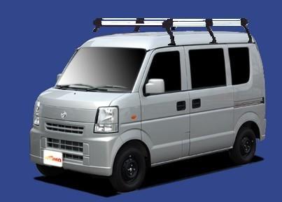 〓日産 NV100クリッパー(車両型式 DR64V/年式H25.12-H27.3)ハイルーフ用 ロングサイズ キャリアHH236C《6本脚・アルミ素材》業販専用_イメージ画像です