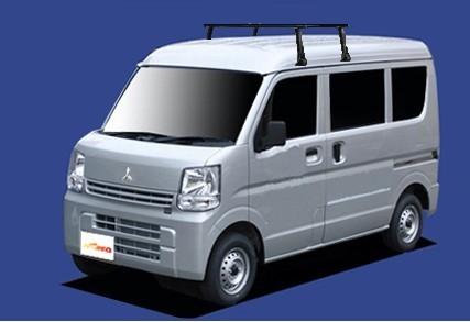 〓三菱 タウンボックス(車両型式 DS17W/年式H27.3-)ハイルーフ用 システムキャリアVB8+FDA6《業販専用品》_イメージ画像です