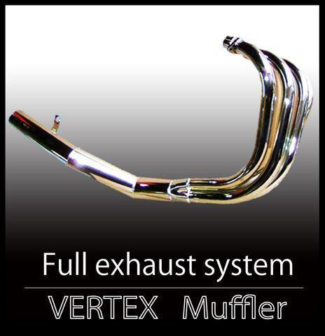 ゼファー750マフラー ショート管 メッキ バーテックス_画像1